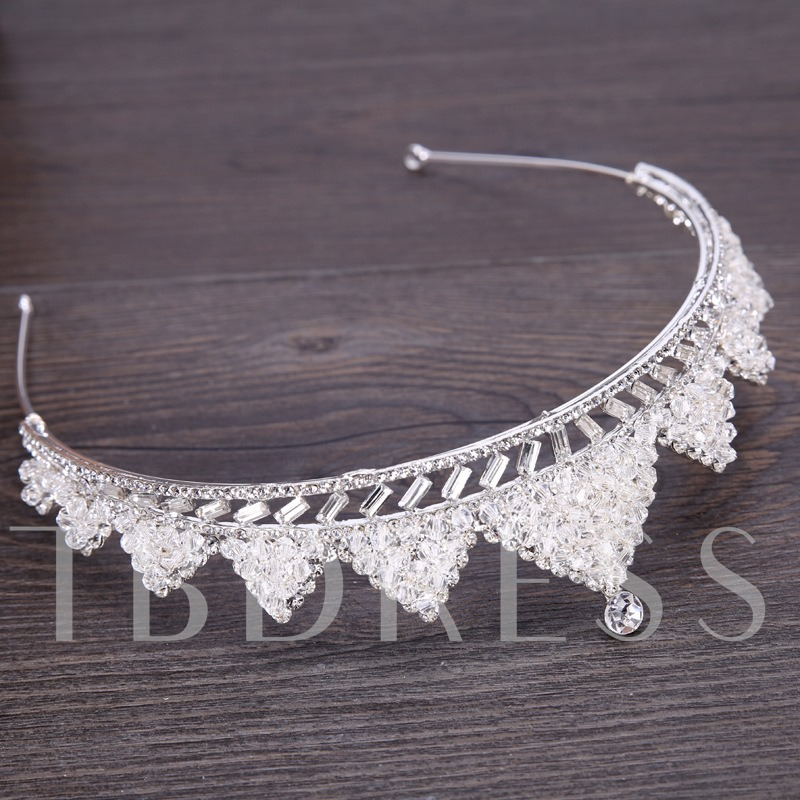 Full Drill Triangle Hollow Out Crown Hair Accessories