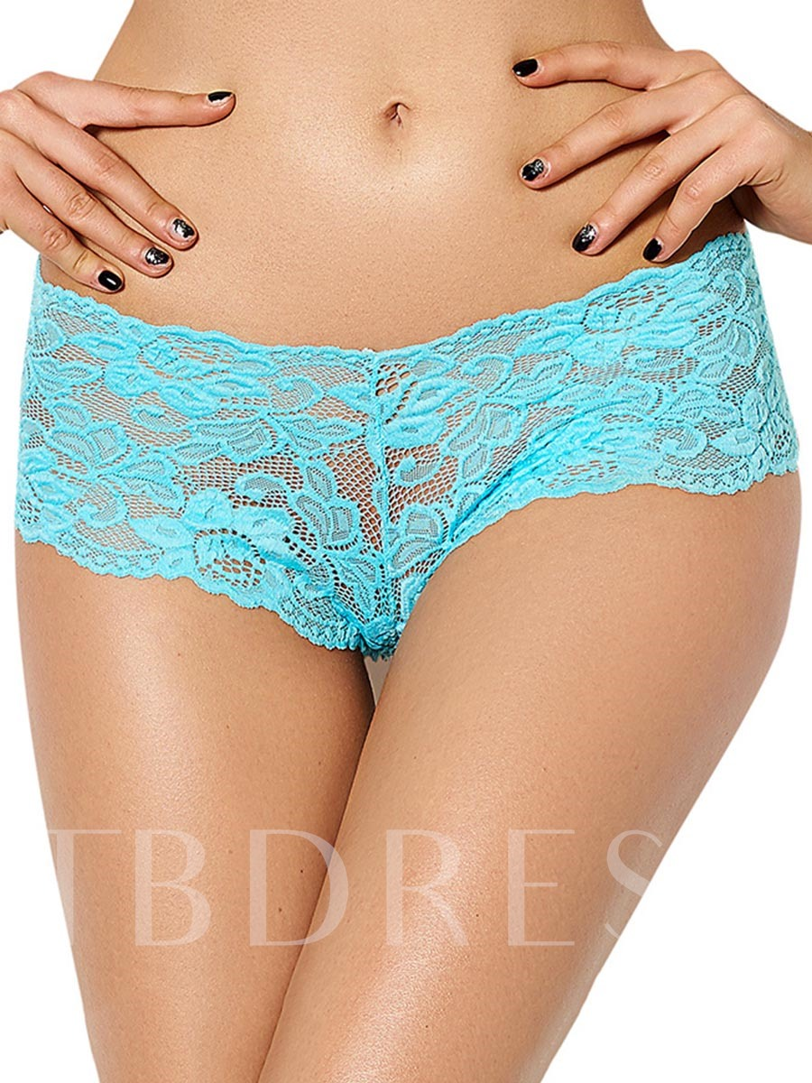 See-Through Lace Plain Panty