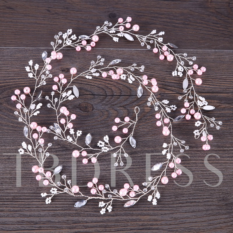 Pink Imitation Pearl Hairpin Hair Accessories