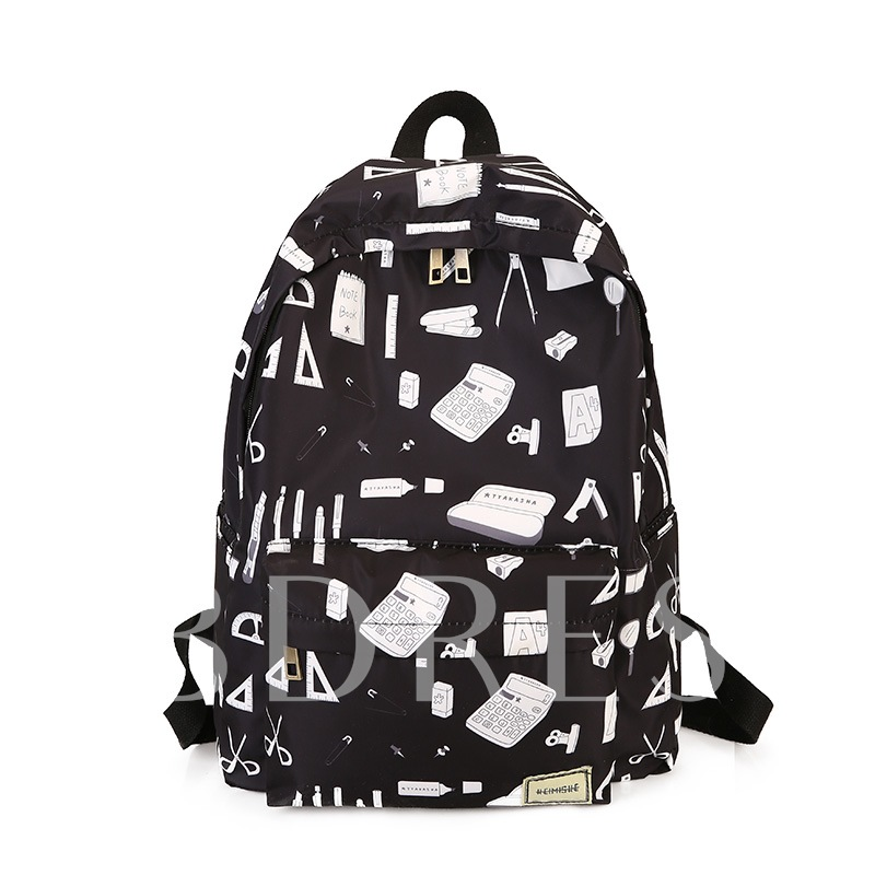 Casual Oxford Zipper Women Backpack