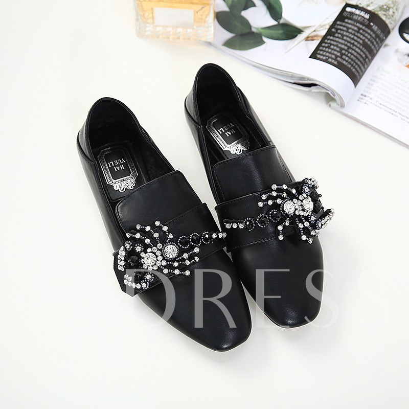Slip On Beads Rhinestone Women's Flat Shoes