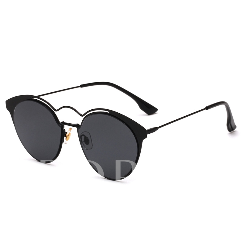 Colorful Round Metal Sunshade Sunglasses