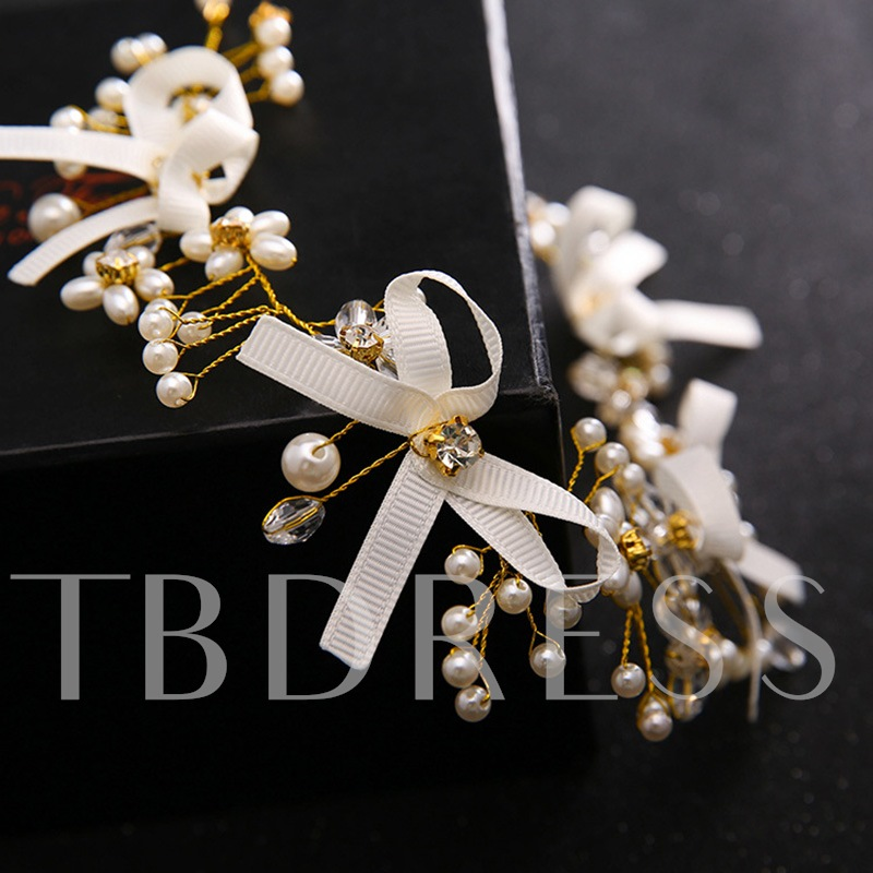 Bowknot Synthetic Pearl Wedding Jewelry Sets