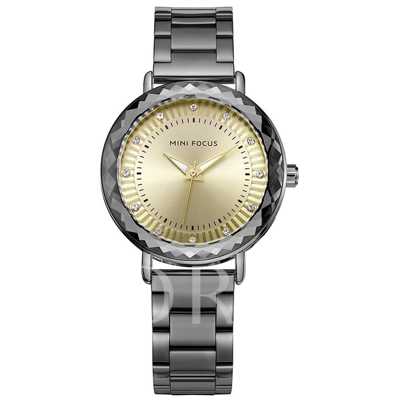 Diamante Hardlex Stainless Steel Alloy Watches