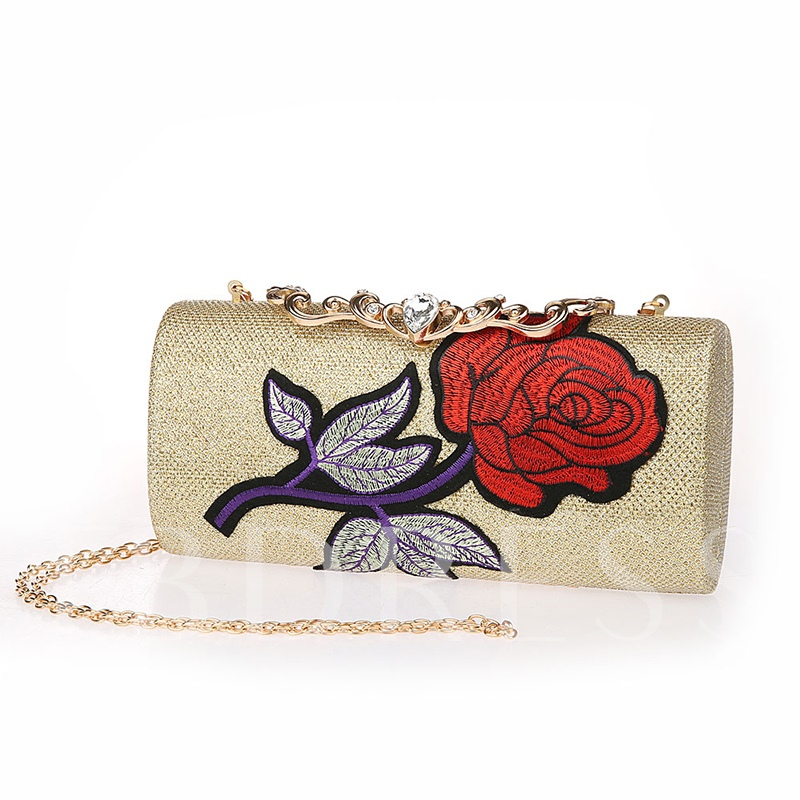 Floral Pattern Chain PU Cross Body Bag