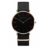 Nylon Strap Color Blocking Simple Watches