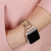 Watch Band Stainless Steel Metal Diamond Strap for Apple Smart Watch