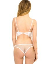 See-Through Low-Waist Bra Set