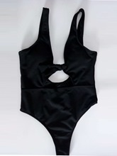 Plain Knotted Hollow Monokini