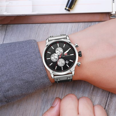 Buckle Strap Water Resistant Alloy Men's Watches