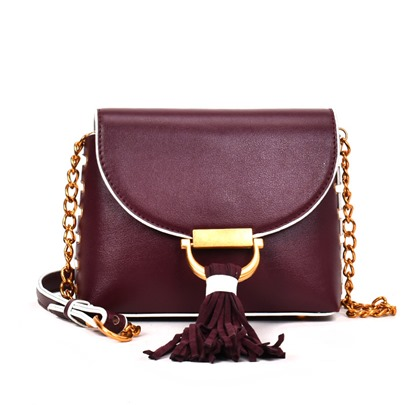 Casual Plain PU Cross Body Bag