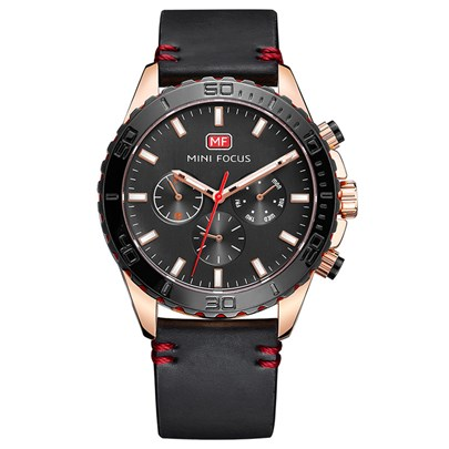 Alloy Artificial Leather Strap Three Eye Table Men's Watches