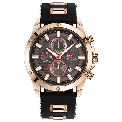 Silicone Strap Waterproof Men's Watches