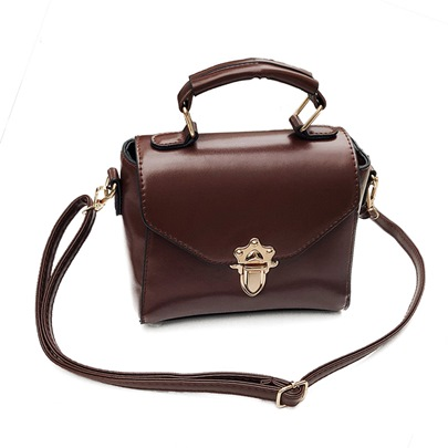 Casual Plain Mini PU Cross Body Bag