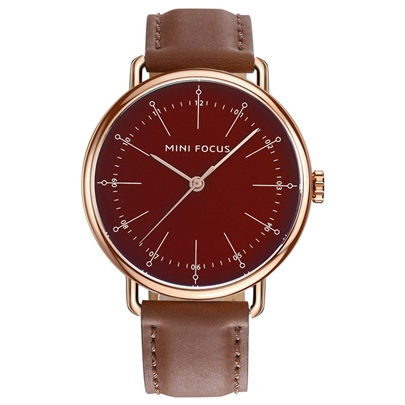 Waterproof Artificial Leather Strap Alloy Men's Watches