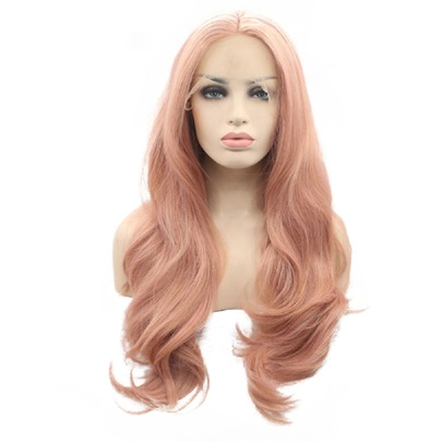 Wavy Middle Part Synthetic Lace Front Wigs For Women 22 Inches