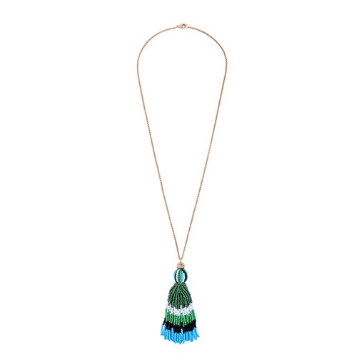 Seed Bead Tassel Sweater Chain Necklace