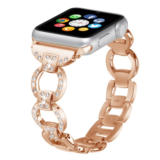 moda bling apple watch band para mujeres / damas 38mm / 42mm