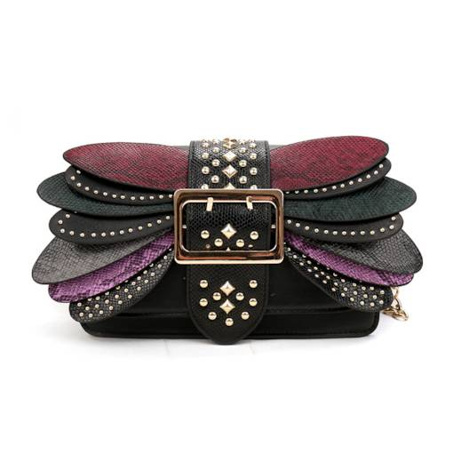 Dazzling Colorful Dragonfly Design Cross Body Bag