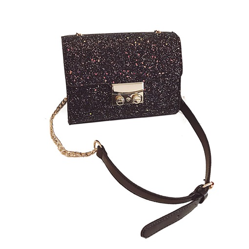 Sequins Solid Color Mini Cross Body Bag