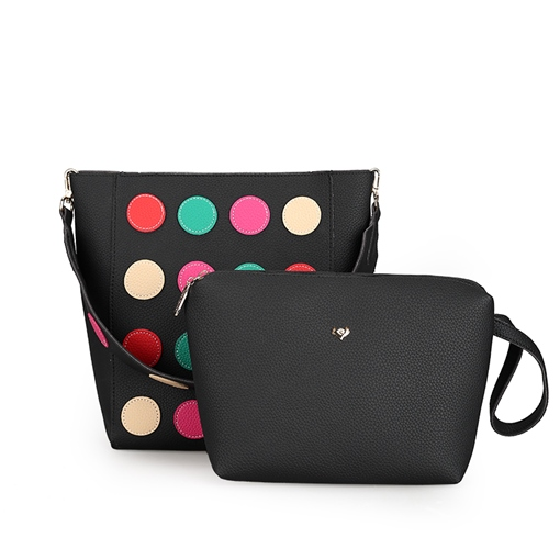 Colorful Dot Pattern Women Bag Set