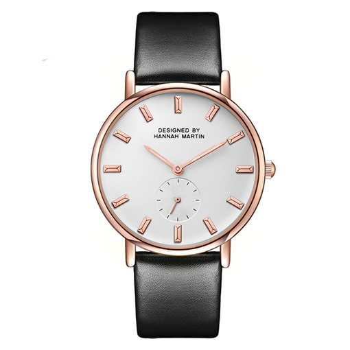 Artificial Leather Strap Analogue Display Quartz Watches
