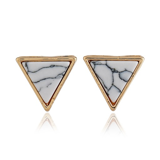 Triangle Marbling Alloy Geometric Earrings