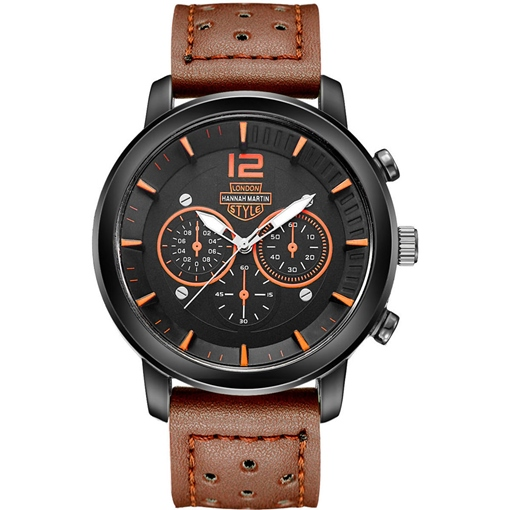 Breathability Artificial Leather Strap Three Eye Table Men's Watches