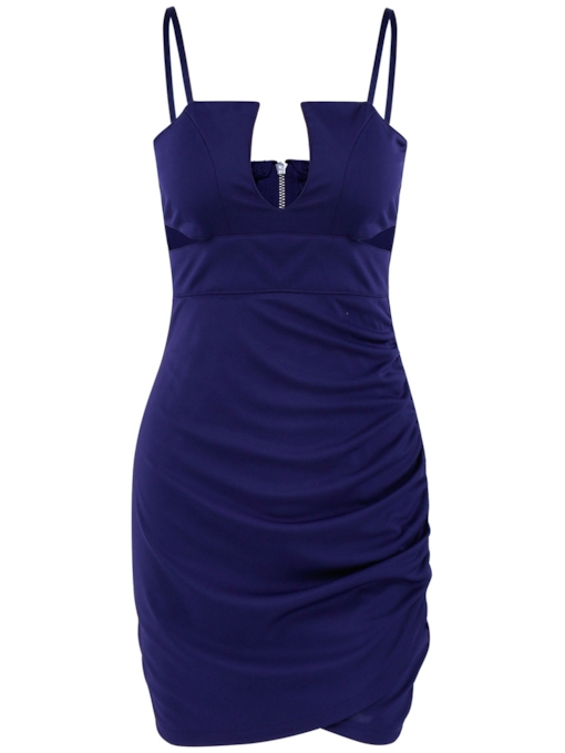 Backless Sleeveless Bodycon Women's Party Dress