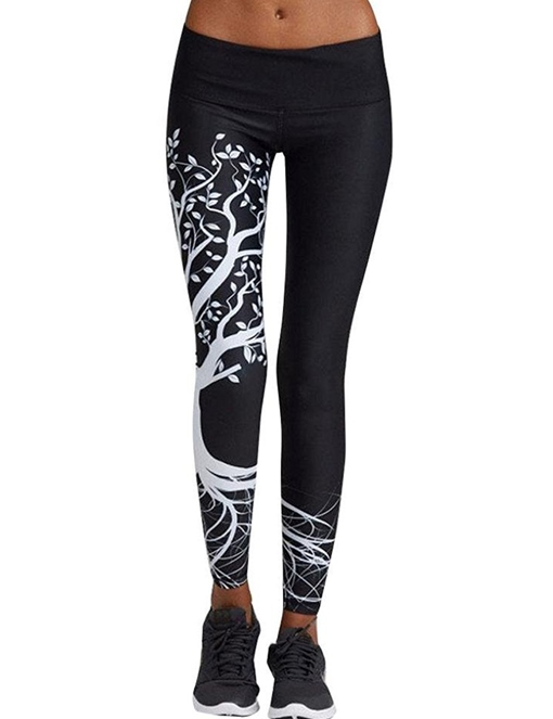 High Waist Print Skinny Women's Leggings