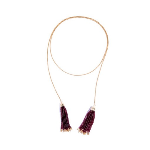 Tassel Beads Alloy Sweater Chain Necklace