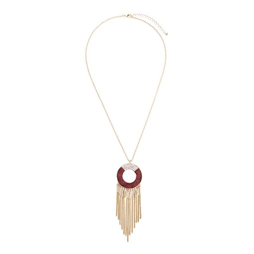 Tassel Round Popcorn Chain Necklace