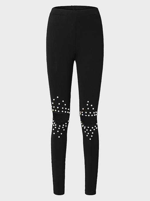 Hole Bead Hollow Women's Leggings