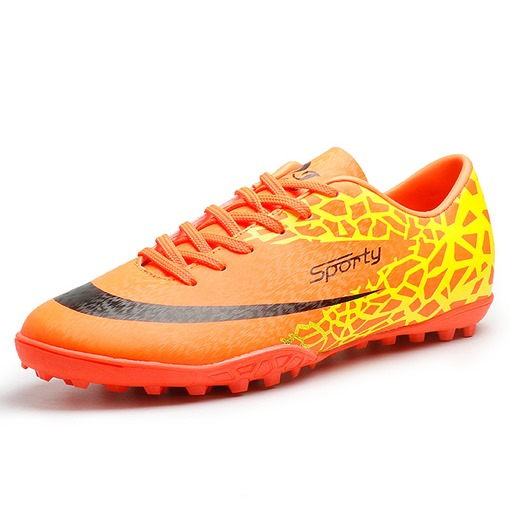 Color Block Lace Up Antiskid Football Shoes for Men