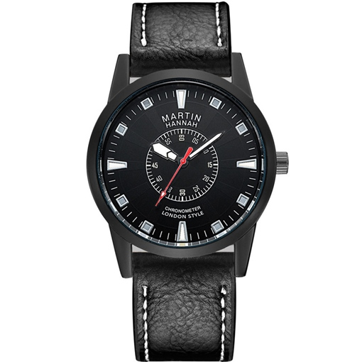 Hardlex Buckle Artificial Leather Strap Men's Watches