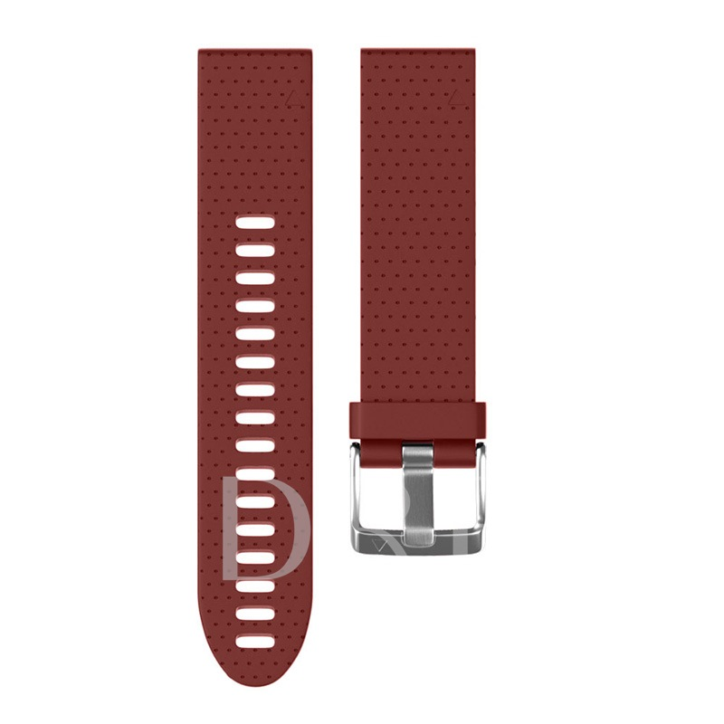 Pure Color Silica Gel Smart Watch Band for Garmin Fenix5S