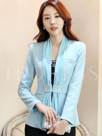 Slim Fit Stylish Women's Blazer With Scarves
