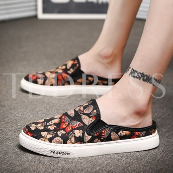 Printing Butterfly Platform Men's Slippers