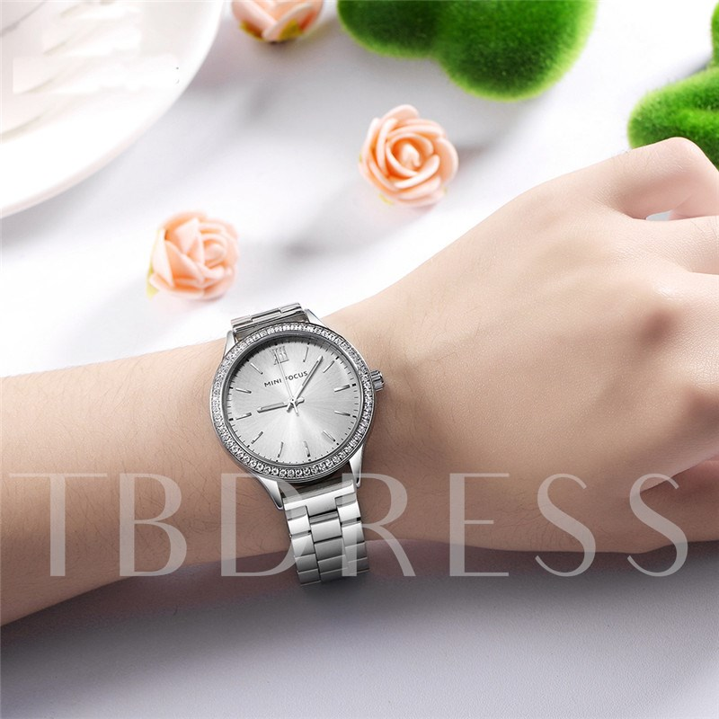 Quartz Movement Alloy Soild Steel Buckle Watches