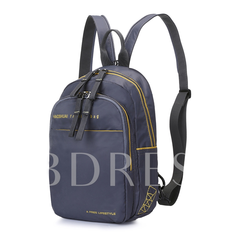 Casual Zipper Nylon Men's Bag