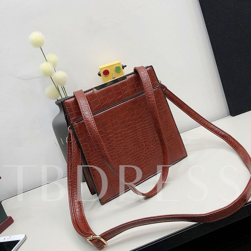 Stone Grain PU Women Shoulder Bag