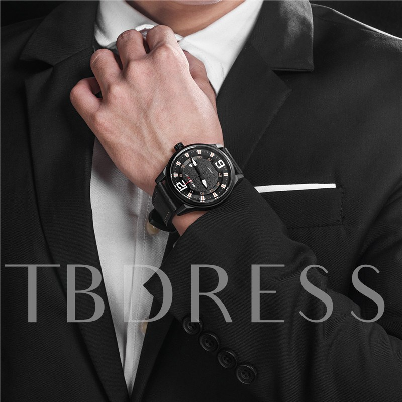 Luminous Display Simulated Leather Men's Watches