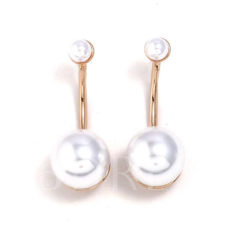 Retro Artificial Pearl Alloy Earrings