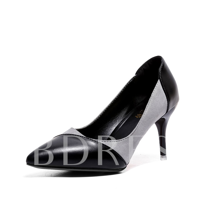 Buy Patchwork Color Block Pointed Toe Women's Pumps, Spring,Summer,Fall, 13147192 for $27.99 in TBDress store