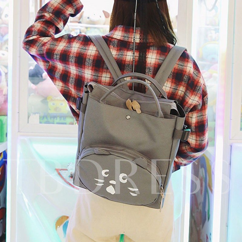 Kitty Embroidery Pattern Backpack