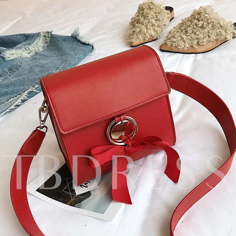 Korean Style Bowknot Decoration Cross Body Bag