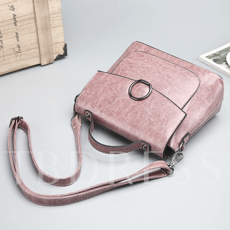 Vintage Plain PU Cross Body Bag