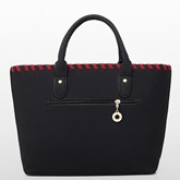 Concise Knitted Plain Women Bag Set