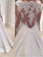 Appliques Long Sleeves Vintage Wedding Dress