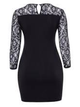 Plus Size Lace Patchwork Plus Size Women's Bodycon Dress